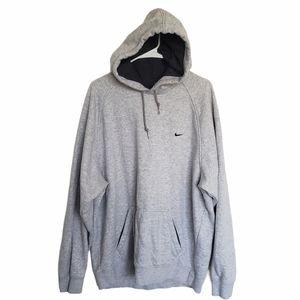 Vintage 90s Nike Oversize gray men Hoodie xl